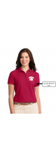 LMS Lionhead Embroidered Polo Pique Shirt - Ladies