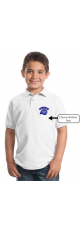 LMS Lionhead Embroidered Polo Pique Shirt - Youth